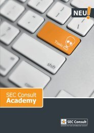 SEC Consult Academy Informationsfolder