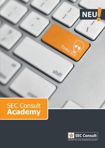 SEC Consult Academy Informationsfolder