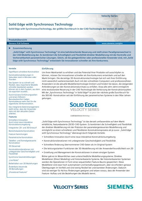 Solid Edge with Synchronous Technology - Solid System Team