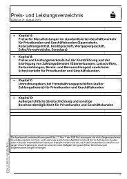 101 580.000 Preis- und Leistungsverzeichnis - Sparkasse Bensheim