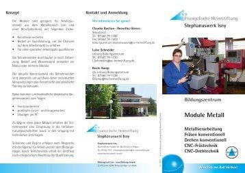 Flyer Module Metall - Stephanuswerk Isny