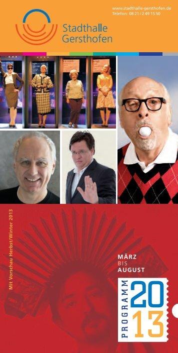 Download Programmheft 1 / 2013 - Stadthalle Gersthofen