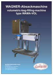 WAGNER-Absackmaschine - WAGNER Maschinen GmbH