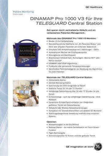 DINAMAP Pro 1000 V3 für Ihre TELEGUARD Central Station
