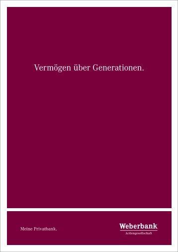 Steuern & Nachfolgeplanung - Weberbank Berlin