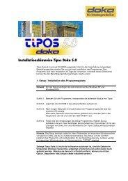 Installationshinweise Tipos Doka 5.0