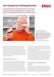 Der Kampf ums Kleingedruckte - ERGO Versicherungsgruppe