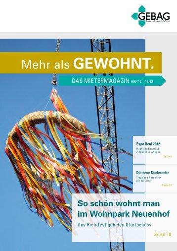 """""""Mehr als gewohnt"""" 2/2012 (pdf) - Gebag"""