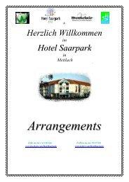 Arrangements - Hotel Saarpark