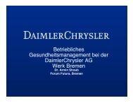 Betriebliches Gesundheitsmanagement bei der DaimlerChrysler AG ...