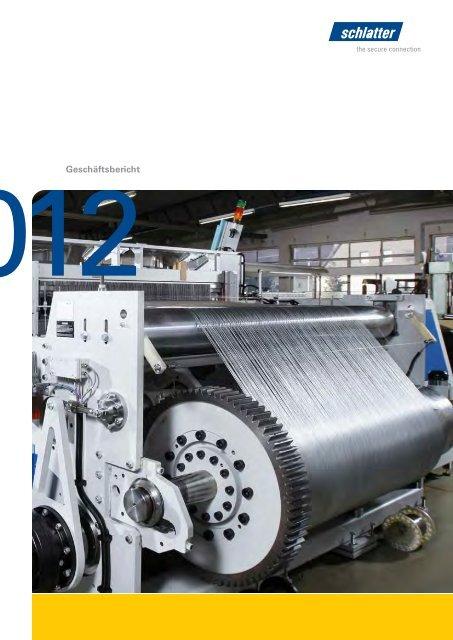 Geschäftsbericht 2012 - Schlatter