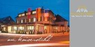 und Restaurantbroschüre - Hotel & Restaurant Winzerstube Ihringen