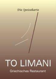 Die Speisekarte - To Limani