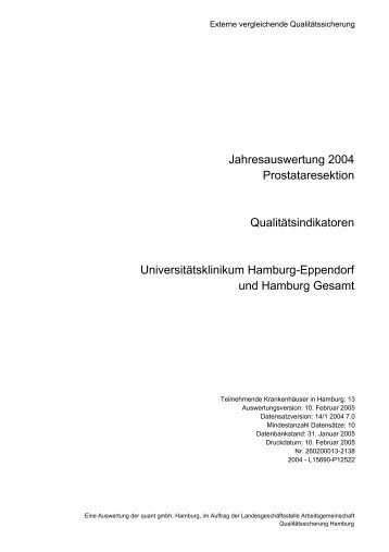 14/1 Prostataresektion - Universitätsklinikum Hamburg-Eppendorf