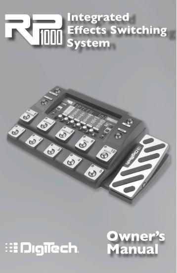 DigiTech Guitar Modeling Preamp RP 1000 Bedienungsanleitung ...