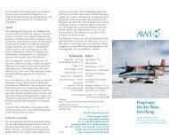 Flugzeuge für die Polar- forschung - AWI