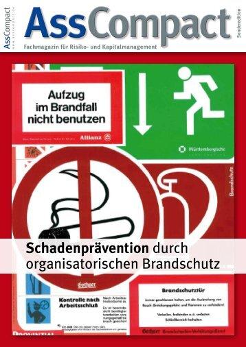 """""""Schadenprävention durch organisatorischen Brandschutz"""" - Autor"""