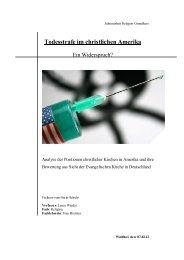 Todesstrafe im christlichen Amerika - Freiherr-vom-Stein-Schule