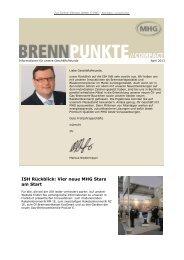 Brennpunkte April 2013 herunterladen - MHG Heiztechnik