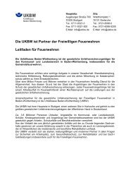 Leitfaden der UKBW für die Feuerwehren - Unfallkasse Baden ...