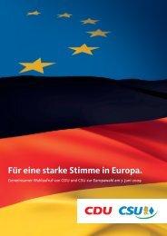 Für eine starke Stimme in Europa. - CDU Deutschlands