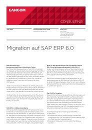 Migration auf SAP ERP 6.0 - Cancom