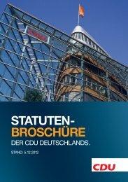Statutenbroschüre der CDU Deutschlands.
