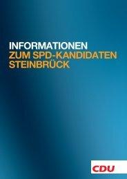 InformatIonen zum SPD-KanDIDaten SteInbrücK - CDU Deutschlands