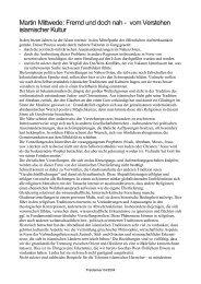 Martin Mittwede: Fremd und doch nah - vom Verstehen islamischer ...