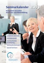 Seminarkalender - Dachverband Deutscher Immobilienverwalter