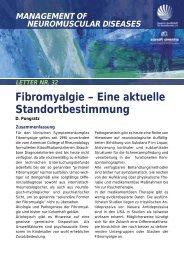 Fibromyalgie – Eine aktuelle Standortbestimmung - DGM