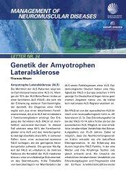 Genetik der Amyotrophen Lateralsklerose - DGM