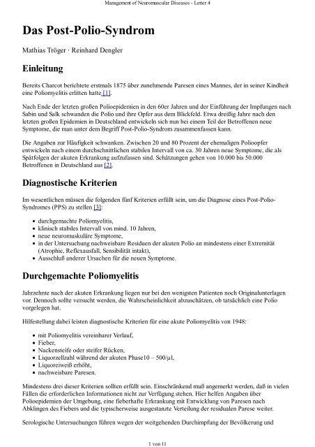 Management of Neuromuscular Diseases - Letter 4 - DGM