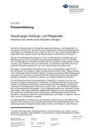 Download der Pressemitteilung (PDF, 38 kB) - DGUV