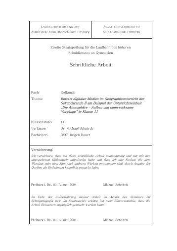 Schriftliche Arbeit - michaelschnirch.de