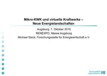 1 Mikro-KWK und virtuelle Kraftwerke – Neue Energielandschaften