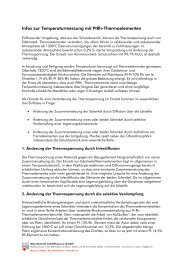 Infos zur Temperaturmessung mit PtRh-Thermoelementen - MTS ...