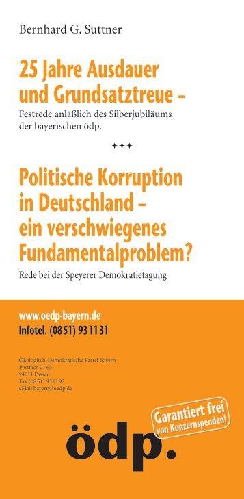 Politische Korruption in Deutschland - Ökologisch-Demokratische ...
