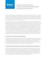 Fragen-Antworten-Katalog (PDF) - PKV - Verband der privaten ...