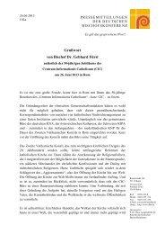 Grußwort von Bischof Dr. Gebhard Fürst - Deutsche Bischofskonferenz