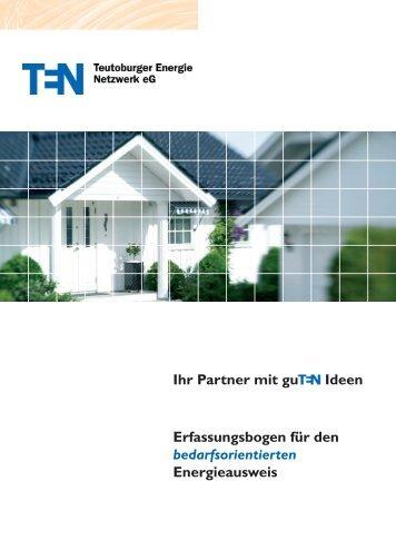 Erfassungsbogen für den bedarfsorientierten Energieausweis