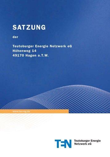 SATZUNG - Teutoburger Energie Netzwerk eG