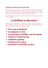 Rezepte des Monats November 2012