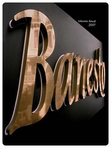 Descargar Informe Anual 2007 - Banesto