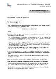 Liebe Kolleginnen und Kollegen, - VCP Verband christlicher ...