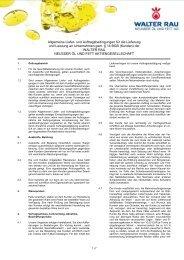 AGB - Walter Rau - Neusser Öl und Fett AG