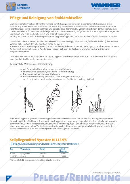 Drahtseile/Anschlagseile - Gebrüder Wanner GmbH