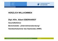Albert Eberhardt, HWK des Saarlandes - ZPT