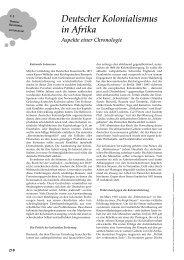Deutscher Kolonialismus in Afrika Aspekte einer Chronologie