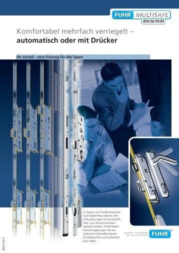 Komfortabel mehrfach verriegelt - Carl Fuhr GmbH & Co. KG